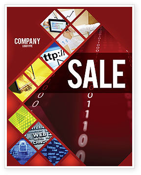Technology, Science & Computers: Binary Strings Sale Poster Template #07249