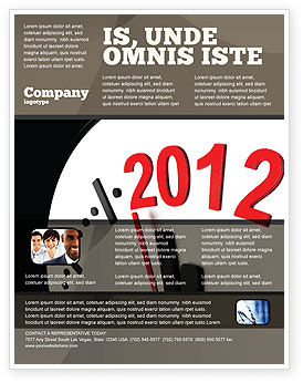 Holiday/Special Occasion: Modelo de Folheto - tempo de 2012 #07252