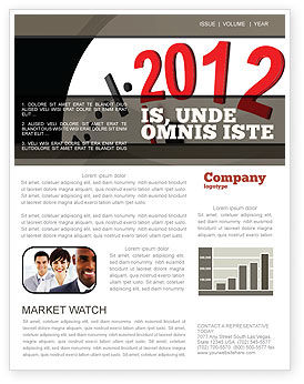 Time of 2012 Newsletter Template, 07252, Holiday/Special Occasion — PoweredTemplate.com