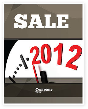 Time of 2012 Sale Poster Template, 07252, Holiday/Special Occasion — PoweredTemplate.com