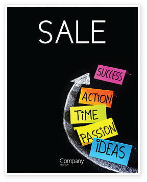 From Ideas to Success Sale Poster Template, 07260, Education & Training — PoweredTemplate.com