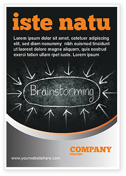 Brainstorming Ad Template, 07268, Business — PoweredTemplate.com