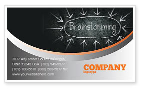 Brainstorming Business Card Template, 07268, Business — PoweredTemplate.com