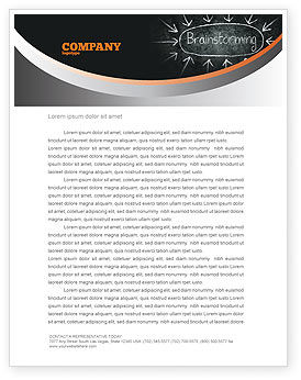 Business: Brainstorming Letterhead Template #07268