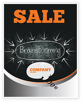 Brainstorming Sale Poster Template, 07268, Business — PoweredTemplate.com