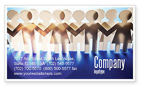 Peoples Unity Business Card Template, 07271, Consulting — PoweredTemplate.com