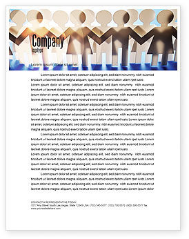 Peoples Unity Letterhead Template, 07271, Consulting — PoweredTemplate.com