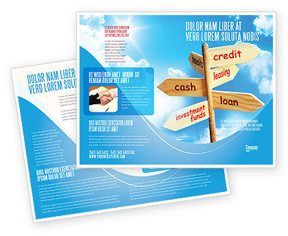 Credits and Loans Brochure Template, 07279, Financial/Accounting — PoweredTemplate.com