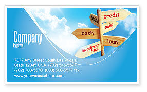 Financial/Accounting: Credits and Loans Business Card Template #07279