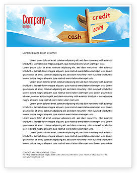 Credits and Loans Letterhead Template, 07279, Financial/Accounting — PoweredTemplate.com