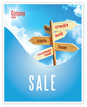 Financial/Accounting: Credits and Loans Sale Poster Template #07279