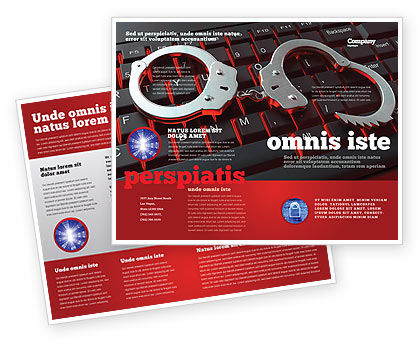 Legal: Computer Crimes Brochure Template #07286