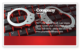 Legal: Computer Crimes Business Card Template #07286