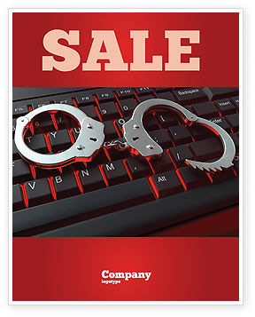 Legal: Computer Crimes Sale Poster Template #07286