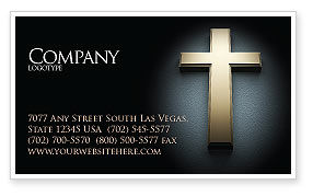 Religious/Spiritual: Cross In The Dark Business Card Template #07291