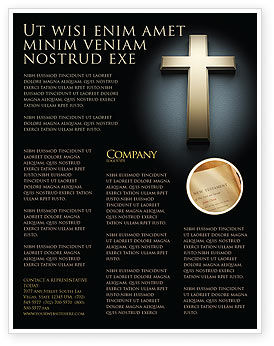 Religious/Spiritual: Cross In The Dark Flyer Template #07291