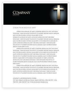 Cross in the dark letterhead template layout for microsoft word cross in the dark letterhead template 07291 religiousspiritual poweredtemplate spiritdancerdesigns Images