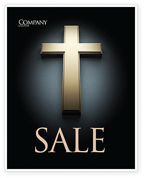 Cross In The Dark Sale Poster Template, 07291, Religious/Spiritual — PoweredTemplate.com