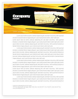Military: Machine Gun Letterhead Template #07308