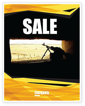 Machine Gun Sale Poster Template, 07308, Military — PoweredTemplate.com