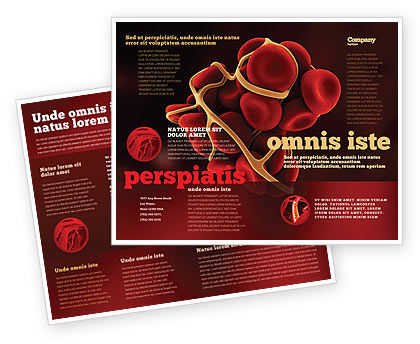 Blood Trombus Brochure Template