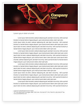 Medical: Blood Thrombus Letterhead Template #07309