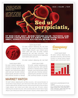 Blood Thrombus Newsletter Template, 07309, Medical — PoweredTemplate.com
