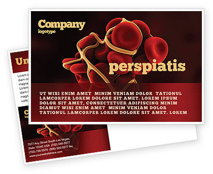 Blood Thrombus Postcard Template, 07309, Medical — PoweredTemplate.com