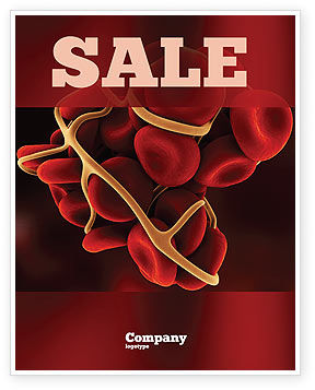 Blood Thrombus Sale Poster Template, 07309, Medical — PoweredTemplate.com