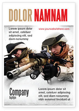 Military: Soldaten In Irak Advertentie Template #07321