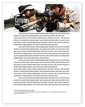 Military: Soldiers In Iraq Letterhead Template #07321