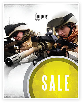 Soldiers In Iraq Sale Poster Template