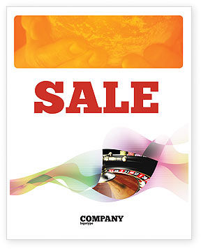 Roulette Sale Poster Template, 07325, Careers/Industry — PoweredTemplate.com