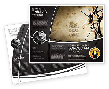 Thorns brochure template design and layout download now for Brochure template illustrator free download
