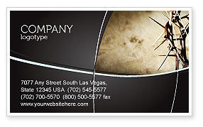 Religious/Spiritual: Thorns Business Card Template #07326