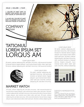 Religious/Spiritual: Thorns Newsletter Template #07326