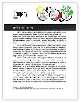 Idea Implementation Plan Letterhead Template, 07375, Education & Training — PoweredTemplate.com