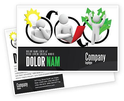 Education & Training: Idea Implementation Plan Postcard Template #07375