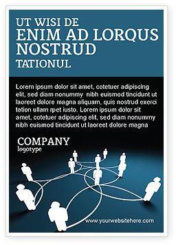 Telecommunication: 광고 템플릿 - 소셜 네트워크 체계 #07390