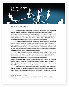 Telecommunication: Social Network Scheme Letterhead Template #07390