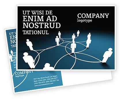 Telecommunication: Modèle de Carte postale de schéma de réseau social #07390