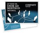Telecommunication: Social Network Scheme Postcard Template #07390