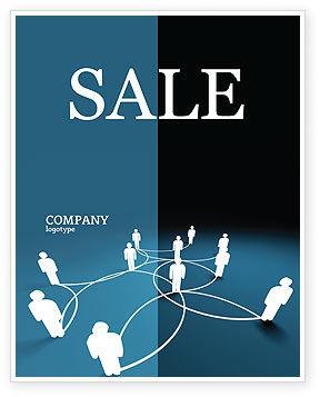 Telecommunication: Social Network Scheme Sale Poster Template #07390