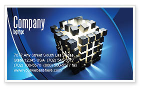 3D: Cube Pieces Concept Business Card Template #07391
