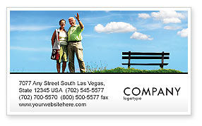 Old Couple Business Card Template, 07405, People — PoweredTemplate.com