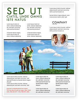 Old Couple Flyer Template, 07405, People — PoweredTemplate.com