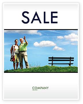 People: Old Couple Sale Poster Template #07405