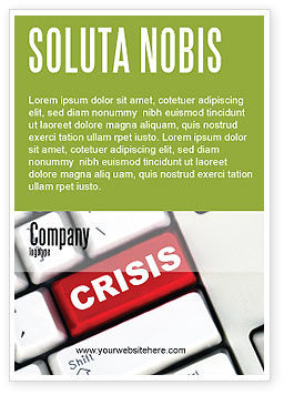 Crisis Button Ad Template, 07410, Financial/Accounting — PoweredTemplate.com