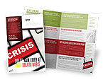 Financial/Accounting: Crisis Button Brochure Template #07410