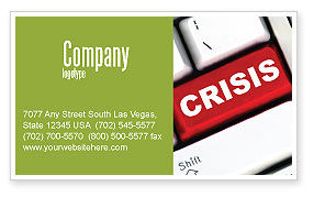 Financial/Accounting: Crisis Button Business Card Template #07410